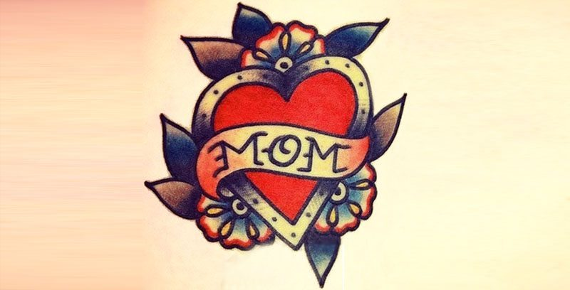 mom heart tattoo