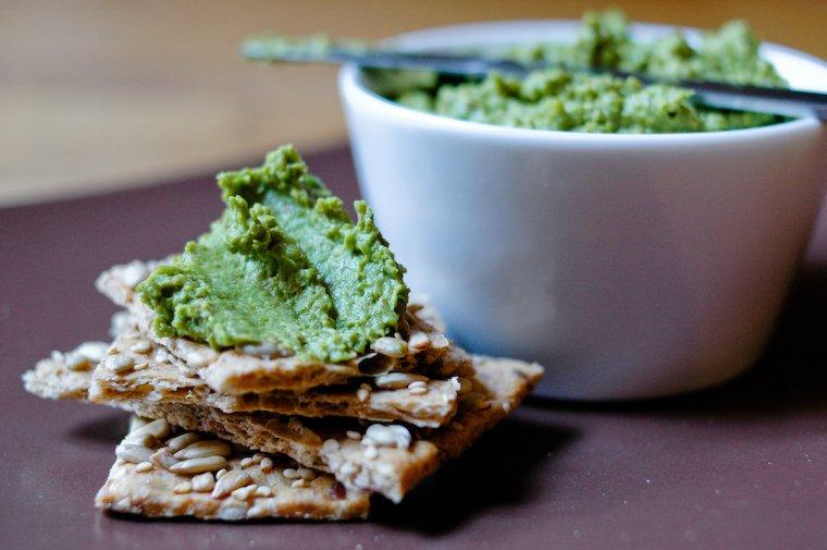 Green Pea Cilantro Spread Chocolate & Zuchinni