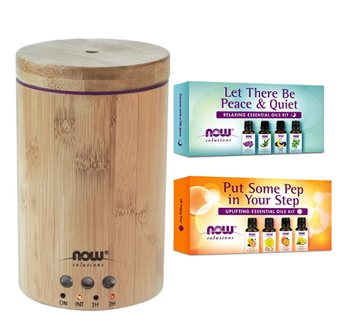 NOW Essential Oil Diffuser and Essential Oil Kits