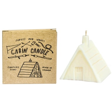 Forest and Waves Cabin Candle campfire scent
