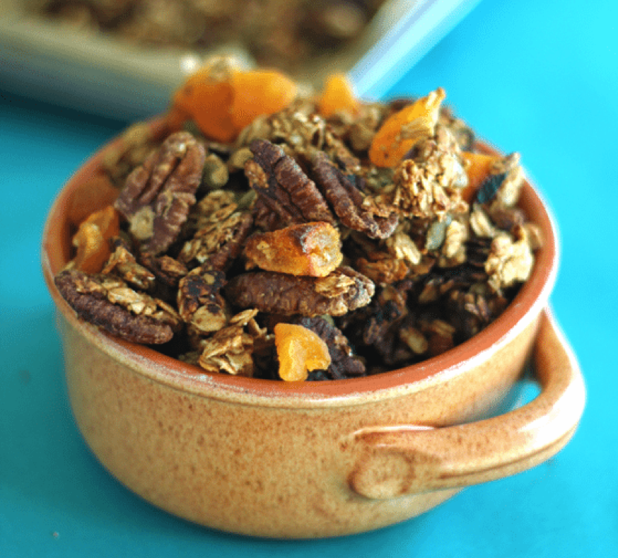 Pumpkin Pie Spiced Granola from Health Nut Nutrition