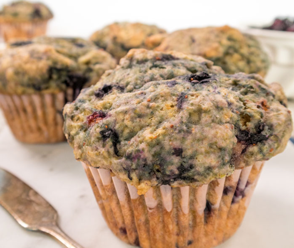 Easy Blueberry Muffins from the Edgy Veg
