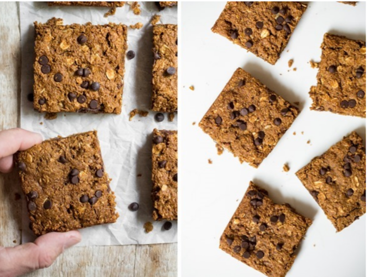 Pumpkin Oatmeal Anytime Squares from Oh She Glows