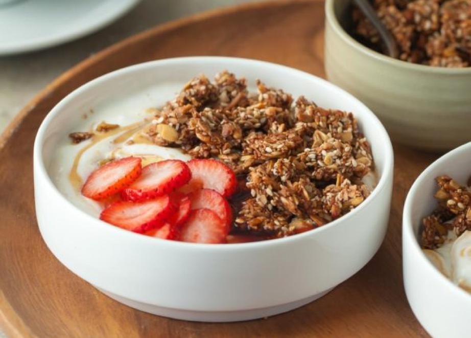 Coconut Tahini Yogurt Bowl