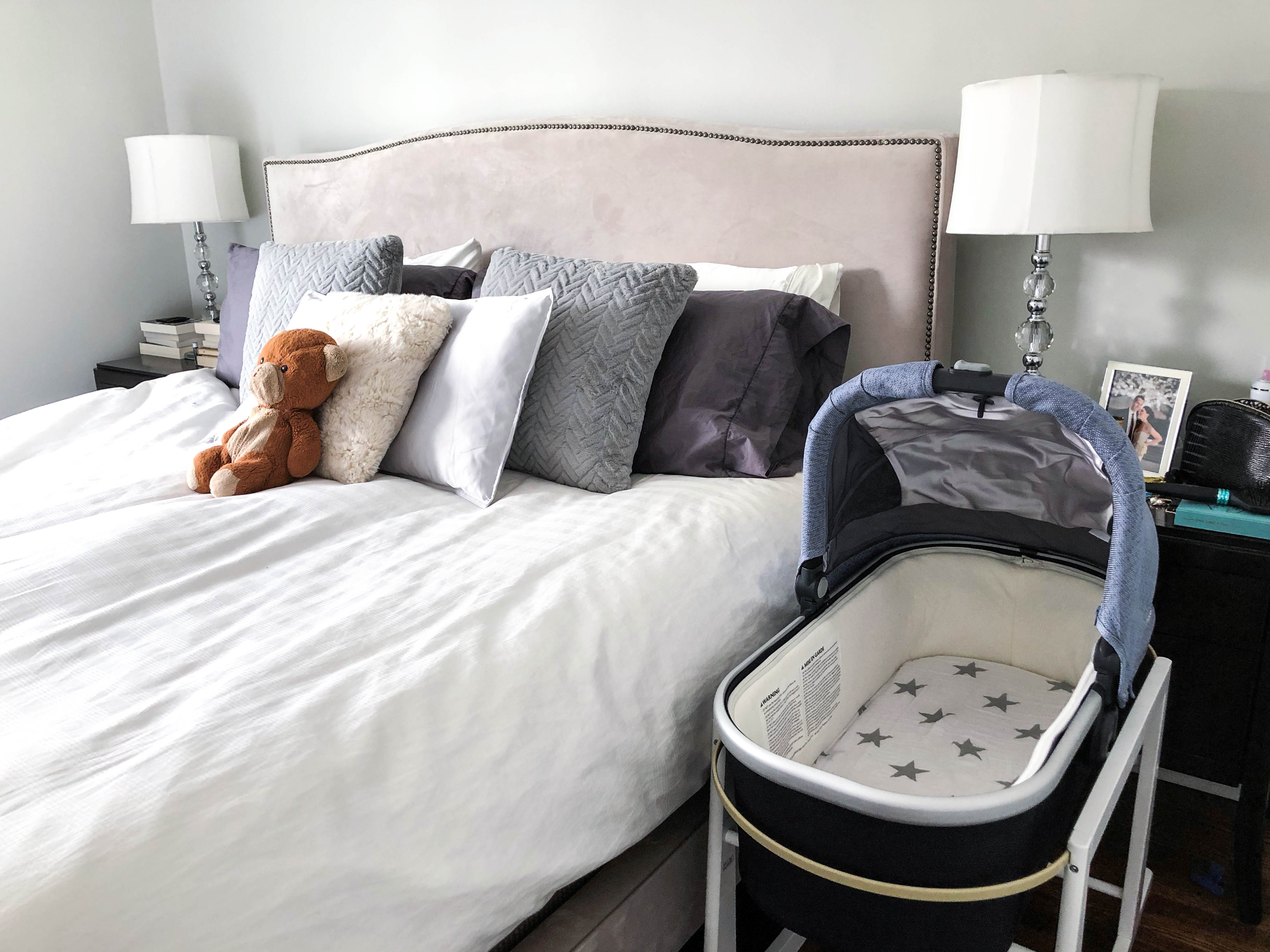 Bedroom with UPPAbaby bassinet