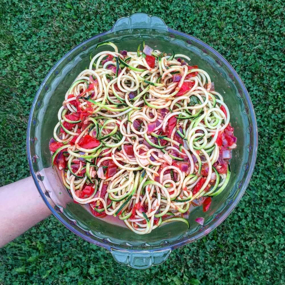 Mandy's Tomato Basil Zoodles