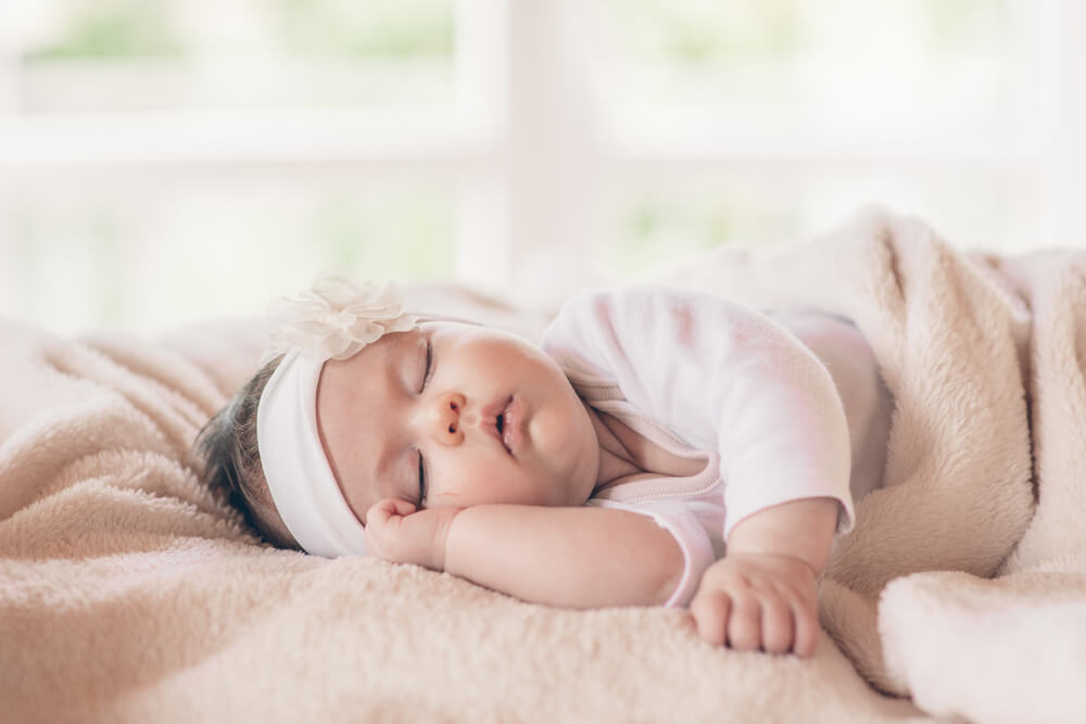 Portrait of sleeping baby
