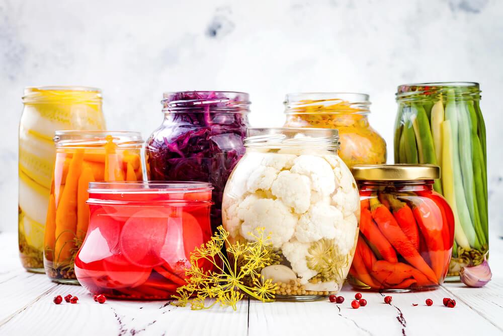 fermented foods in jars