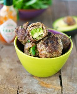 Avocado Stuffed Meatballs from The Iron You
