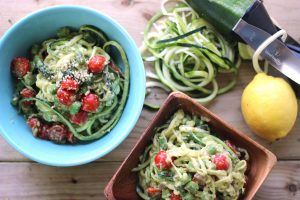 Creamy Avocado Zucchini Pasta from Health Nut Nutrition