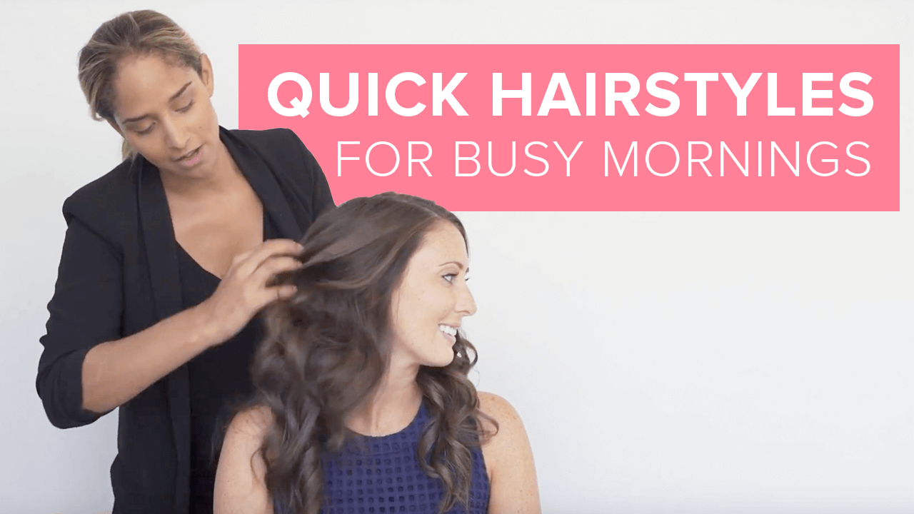 quick hairstyles for busy mornings thumbnail