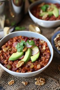 Vegan Keto Walnut Chili from Abbey's Kitchen
