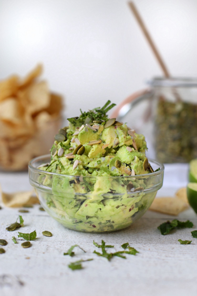 Mint Basil Guacamole from It's To Die For