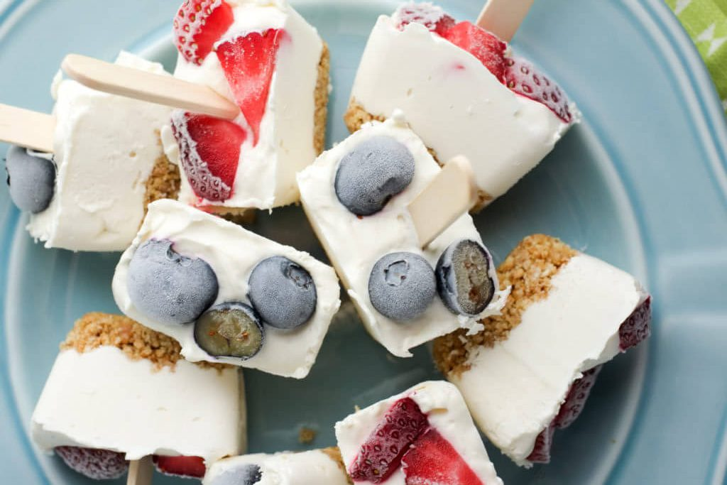 Ice Cube Tray Cheesecake Bites from Super Healthy Kids