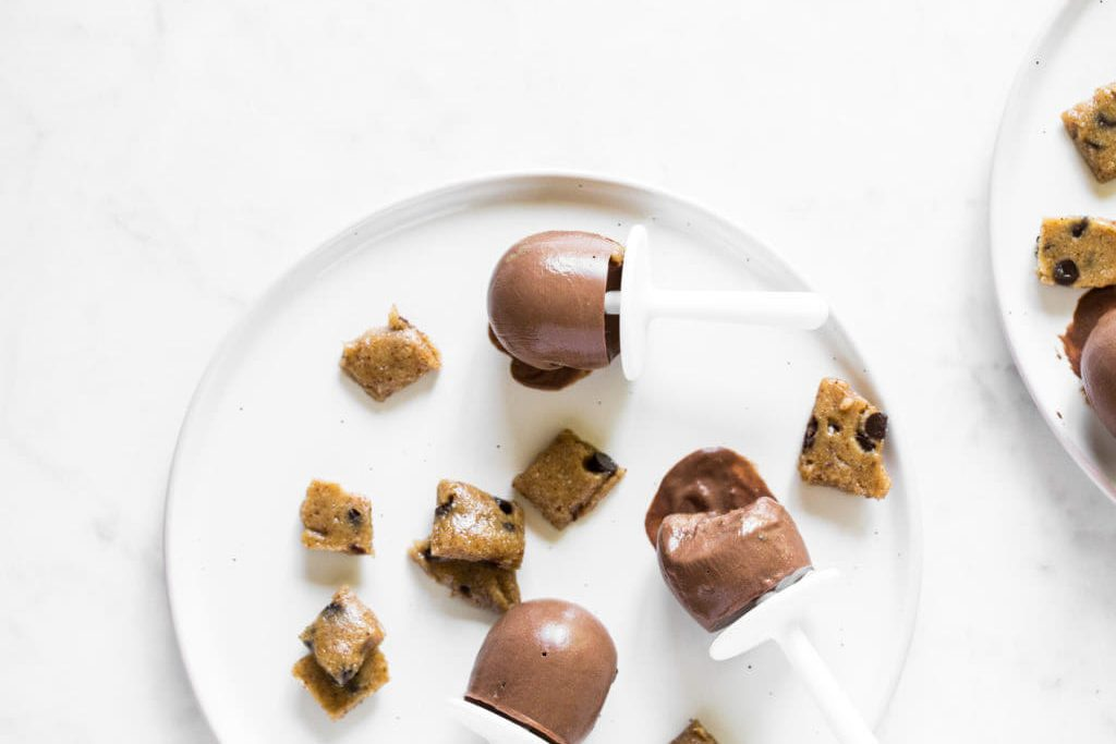 Mini Cookie Dough Fudge Pops from Oh She Glows