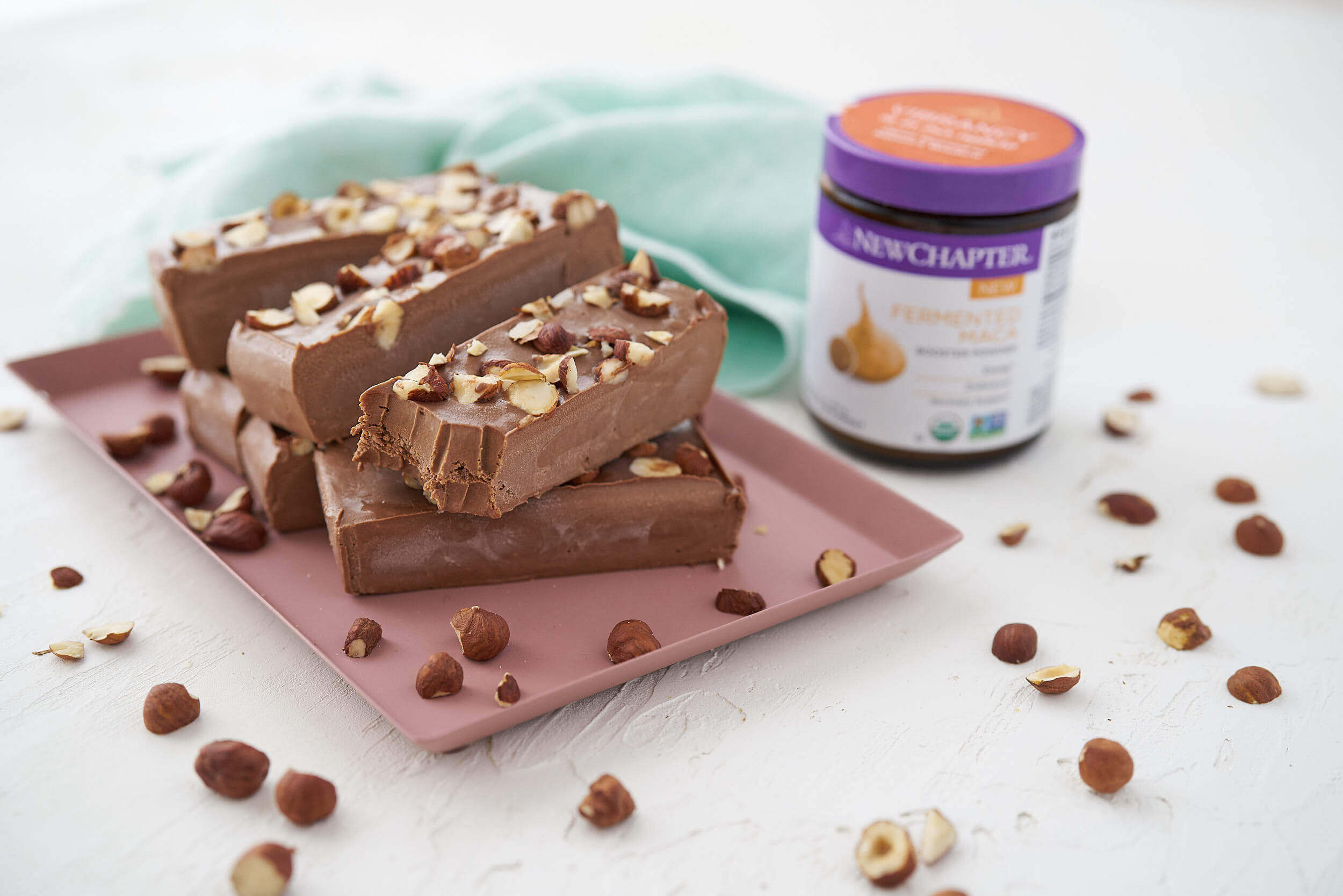 Maca Chocolate Hazelnut Freezer Fudge from Joy McCarthy