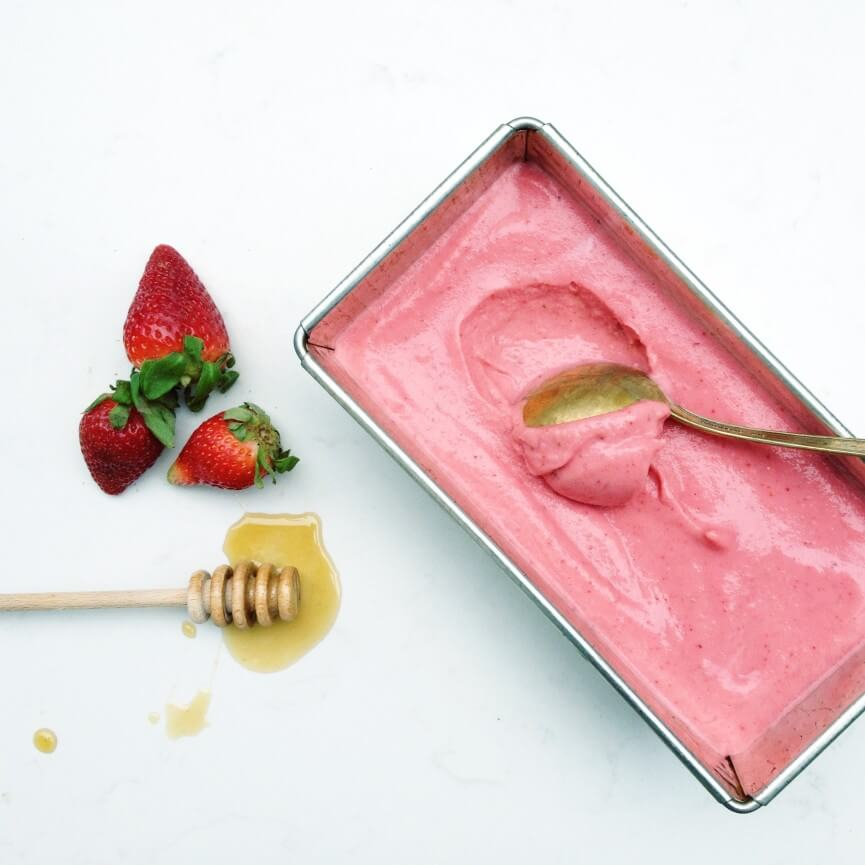 Strawberry Greek Frozen Yogurt from Fraiche Nutrition