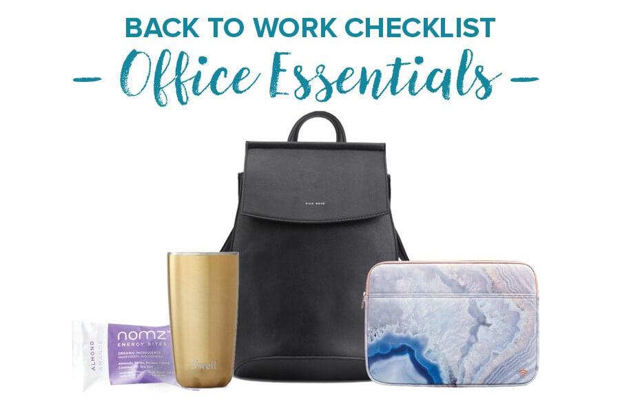 Back to Work Checklist