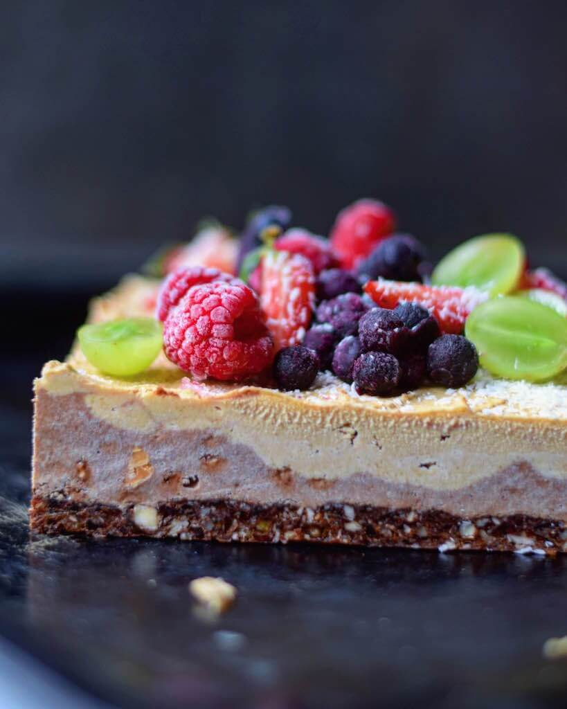 Raw Plant Based Ice Cream Cake from Food By Maria