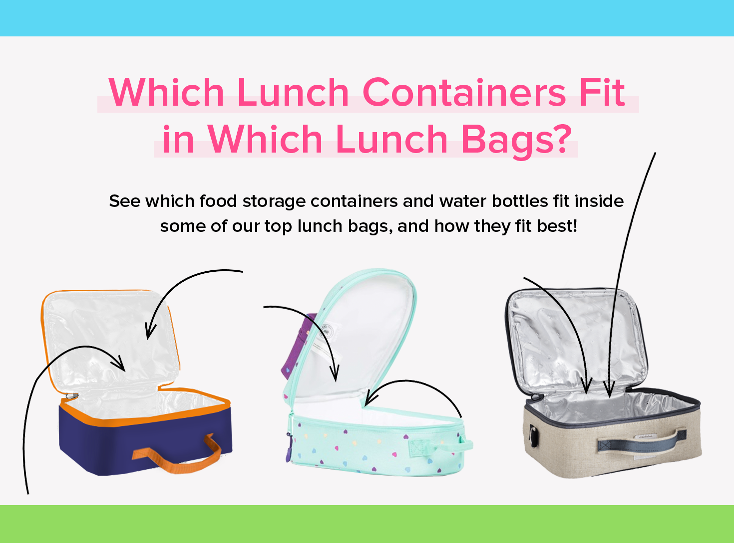 header - which lunch containers fit in which lunch bags