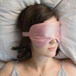 Halfmoon Silk Charmeause Eye Mask Blush Aubergine