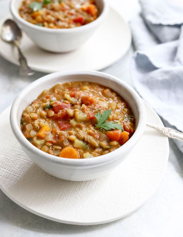 Instant Pot Lentil Soup From Detoxinista