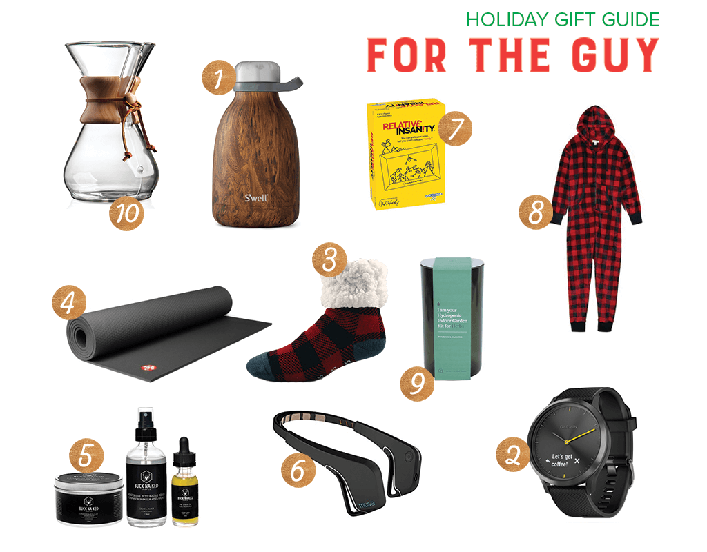 holiday gift guide 2018 for the guy
