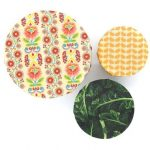 Mind Your Bees Large Hail To The Kale Beeswax Food Wraps