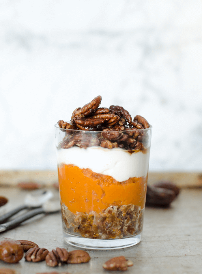 No-Bake Pumpkin Pie Parfait From Running On Real Food