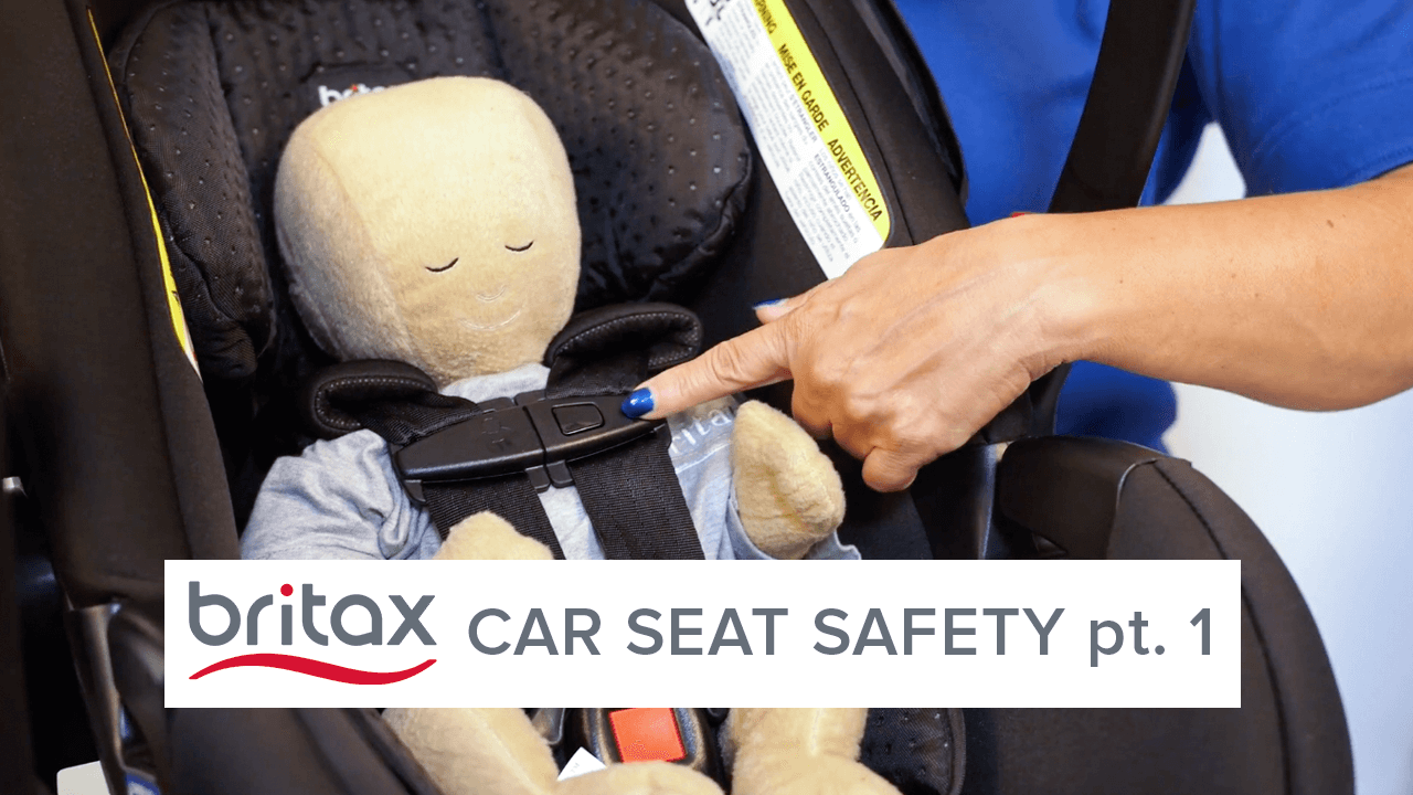 Doll in car seat
