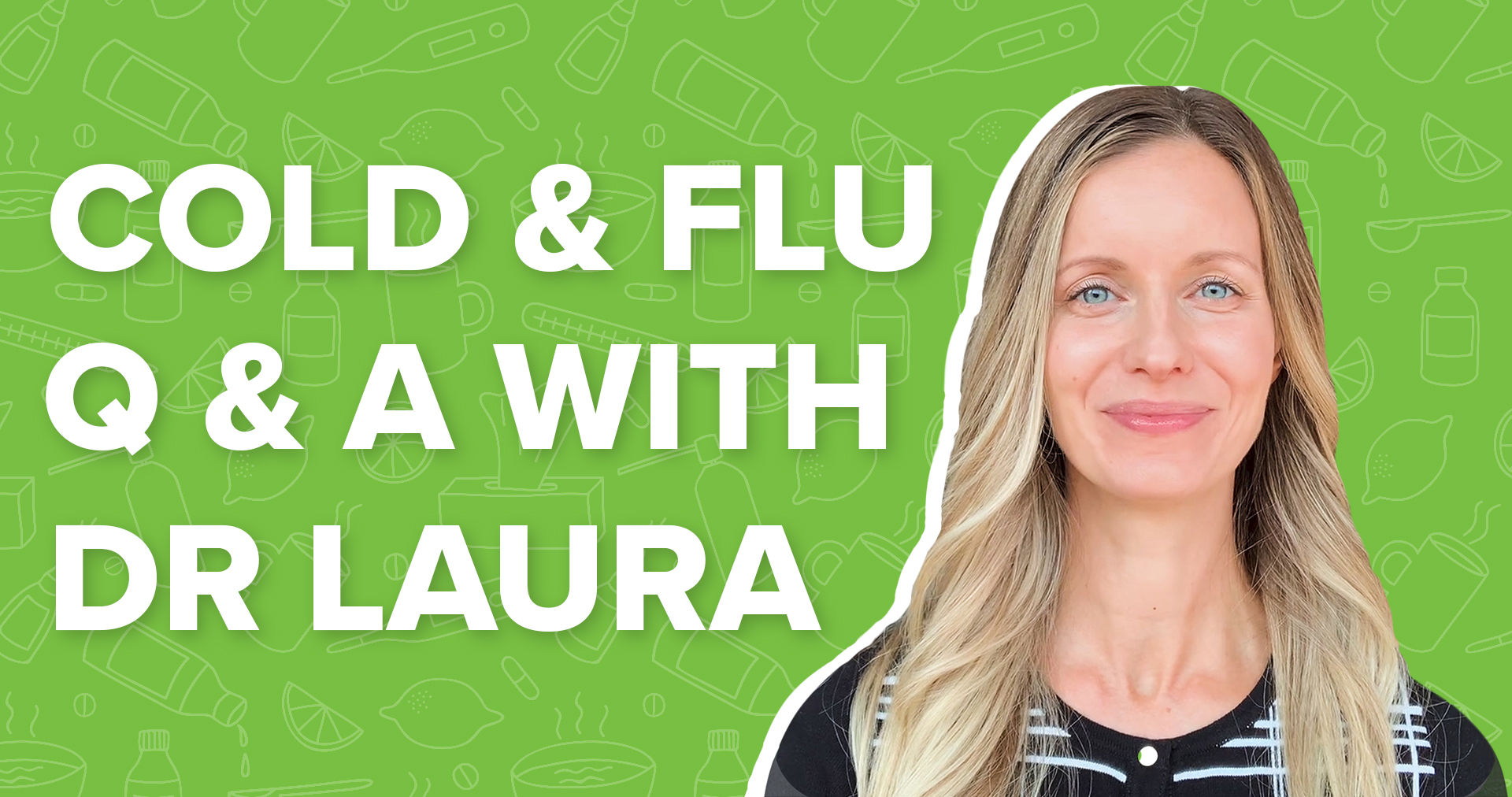 Dr. Laura on Green background with White text