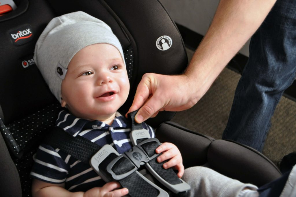 Baby Comfortably in car seat